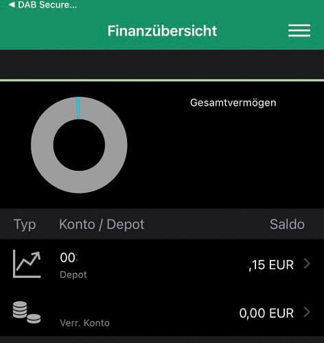 Screenshot aus der Smartbroker App