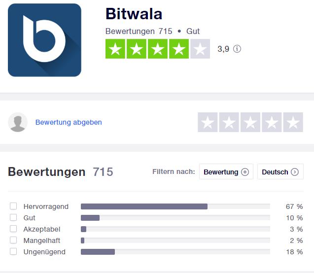 Bitwala oder Bison Bewertung