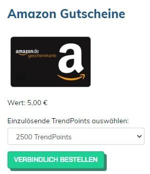 TrendsetterClub Amazon Geschenkgutschein