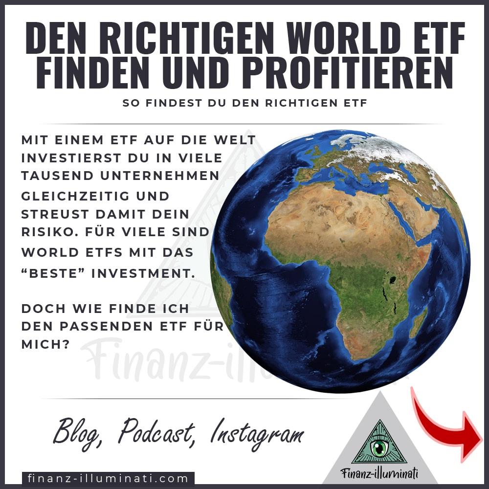 Die besten World ETFs - Auswahl und Filter