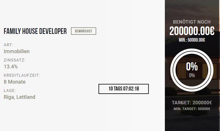 Crowdestor Projekt Screenshot
