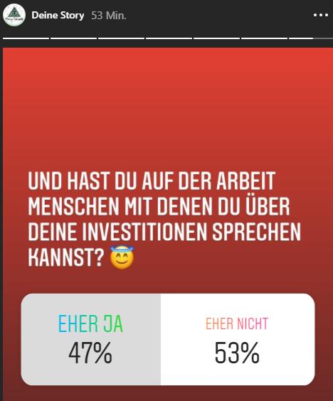 Sprechen Deutsche auf der Arbeit mit ihren Kollegen über Aktien?