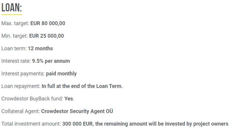 Screenshot der Loan Infos P2P