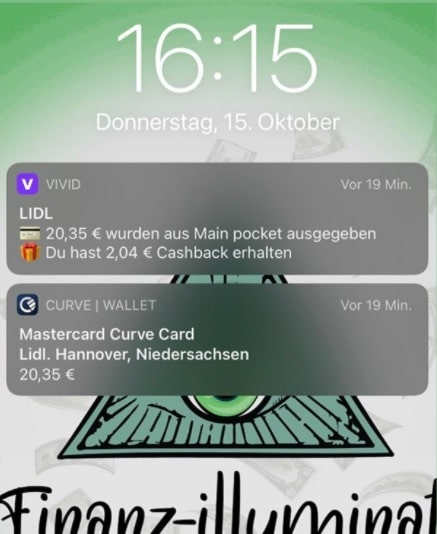 Vivid Money Liste aller Cashback Partner