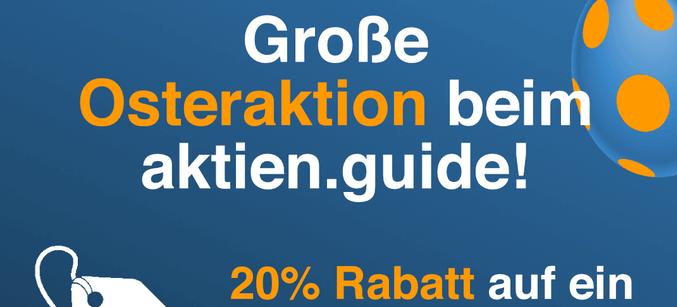 Hinweis auf die Rabatt-Aktion beim Aktien.Guide |Promo Code / Link?