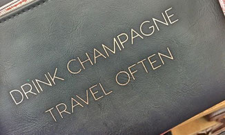 DRINK CHAMPAGNE, TRAVEL OFTEN - fernwehkonfetti