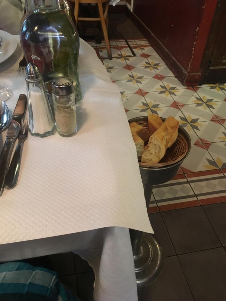 この灰皿的なパン置き場がかわいい