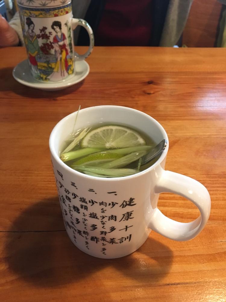 すごい味だったよ、このお茶!そして日本語の健康十訓