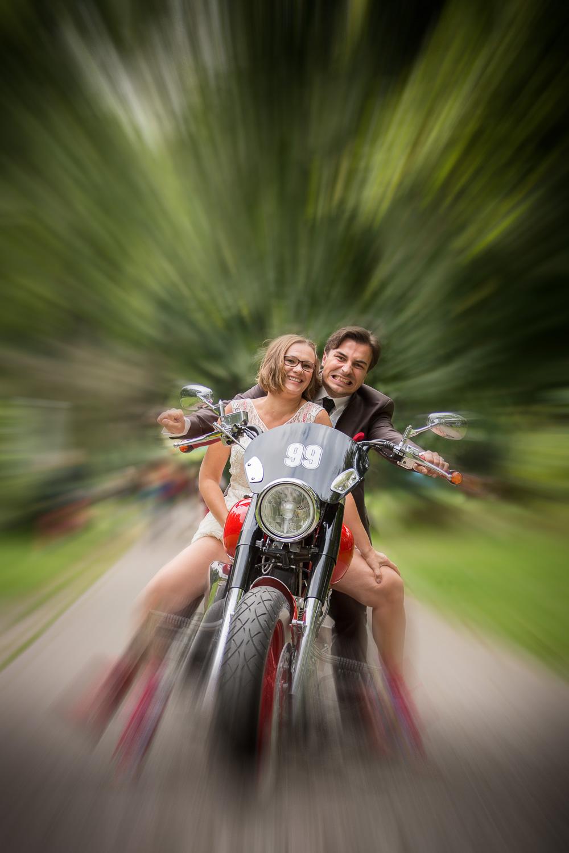 Spontan noch ein paar Fotos mit Harley...