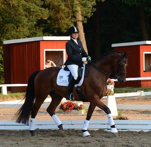 Lars nach seinem Sieg in der L- Kandare in Schwanewede 2015.