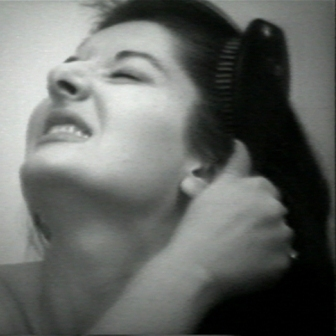 MARINA ABRAMOVIC, Art Must be Beautiful, Artist Must be Beautiful, Video projection of the performance at the Charlottenburg Art Festival, Copenhagen, 1975