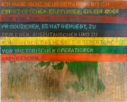 MICHAEL ENDLICHER, Mischtechnik auf Leinwand, 100x80cm