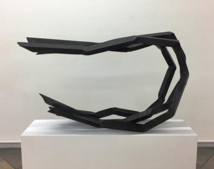 ROBERT SCHAD, Skulptur Vierkantstahl 45mm massiv, 2019-2020