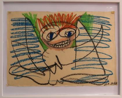 """ANITA MÜNZ, aus der Serie """"Befreiungsbilder"""", Zeichnung, 1984"""