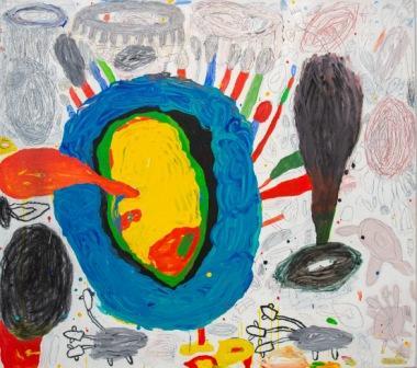 PETER PONGRATZ, Little Melonae, 2016, Acryl und Grafit auf Leinwand, 125x140cm