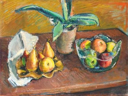 Anton Faistauer, Stillleben mit Aloe, Öl / Leinwand, 56 x 72,5 cm, 1927
