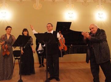 ルクセンブルクのカントレッジさんと作曲家のアザラシヴィリ氏