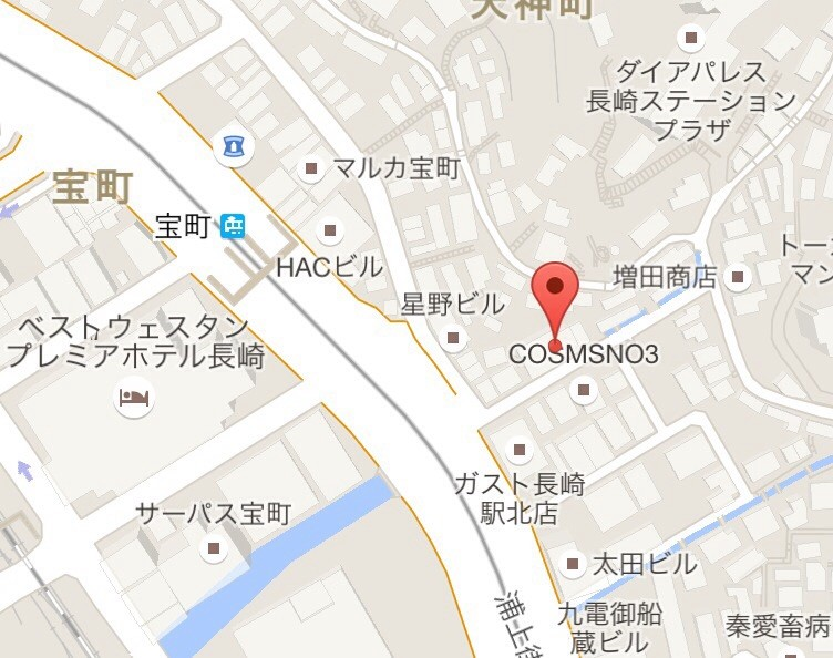 宝町バス停下車  徒歩1分