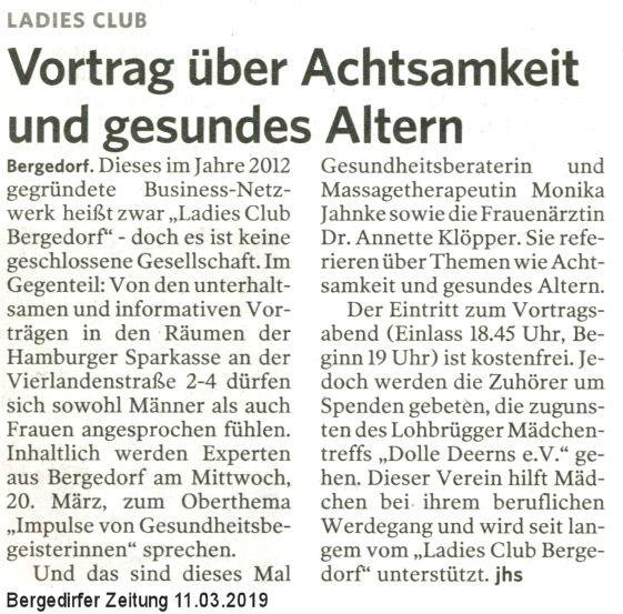 Bergedorfer Zeitung 11.03.2019