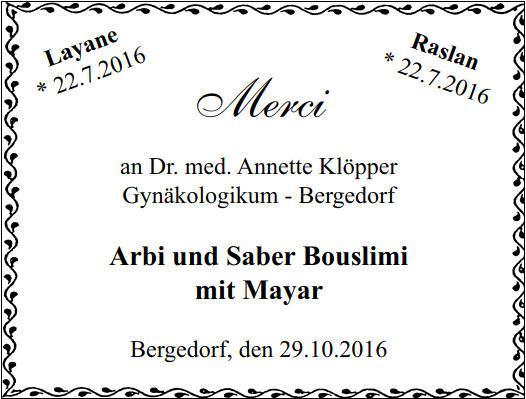 Bergedorfer Zeitung 29.10.2016 Danke