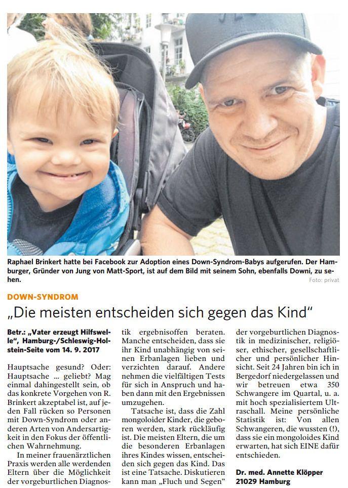 Bergedorfer Zeitung Leserbrief 13.10.2017