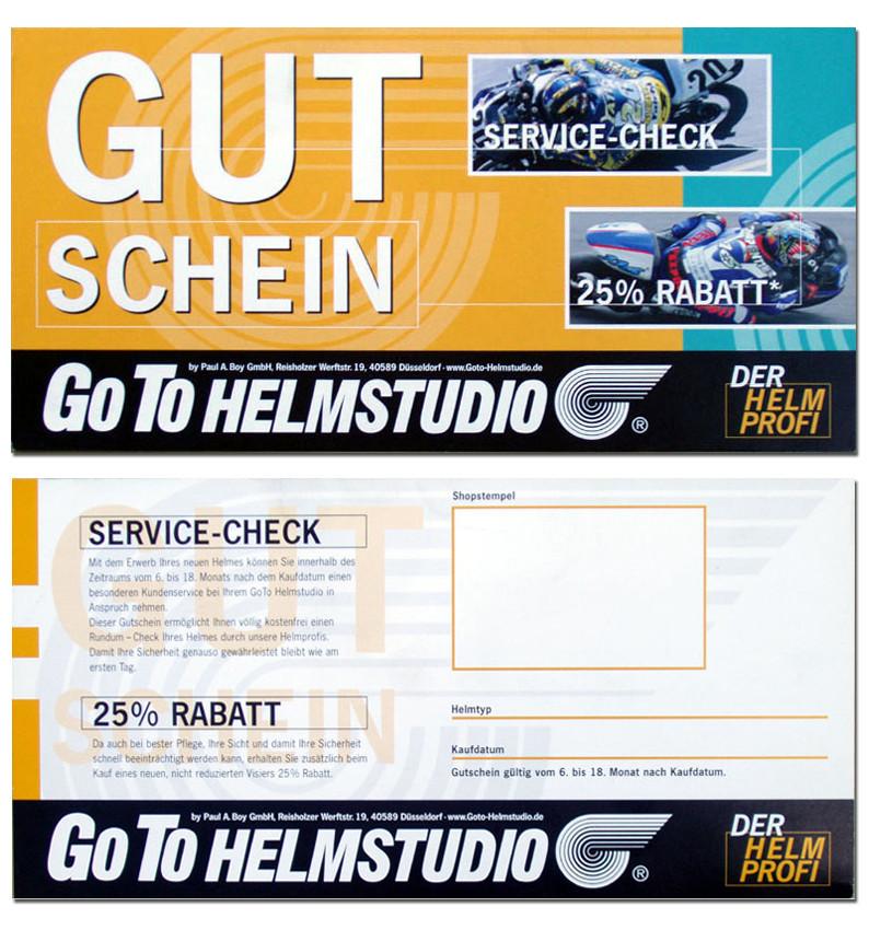 GOTO Helmstudio Gutscheinflyer