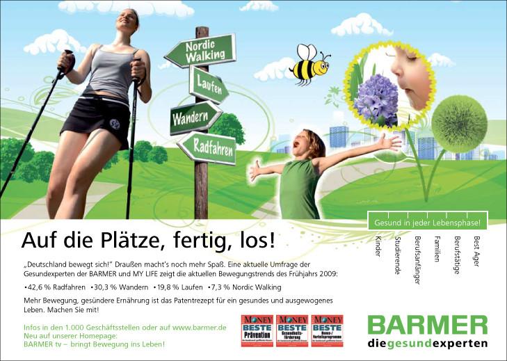 BARMER Krankenkasse Anzeige BAMS
