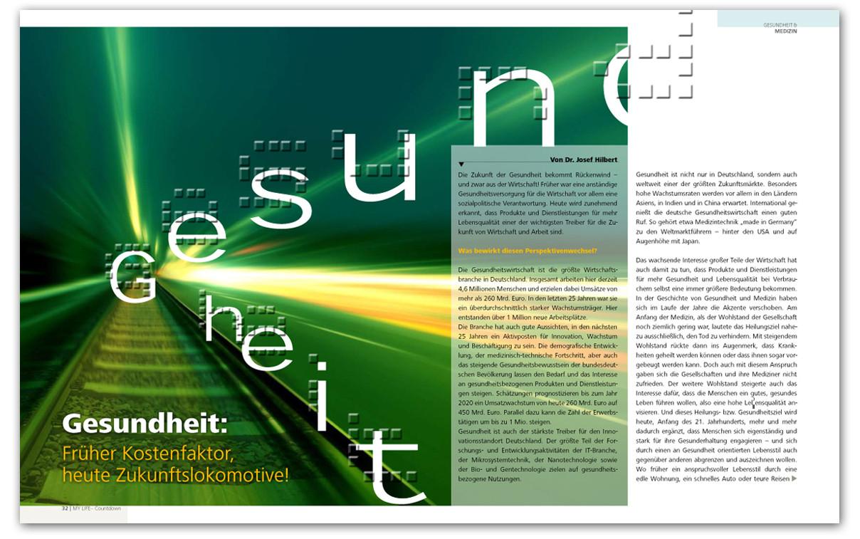 Innenseite Jubiläumsmagazin
