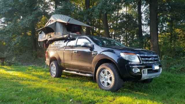 Dachzelt auf Ford Ranger mit BELTOP Hardtop
