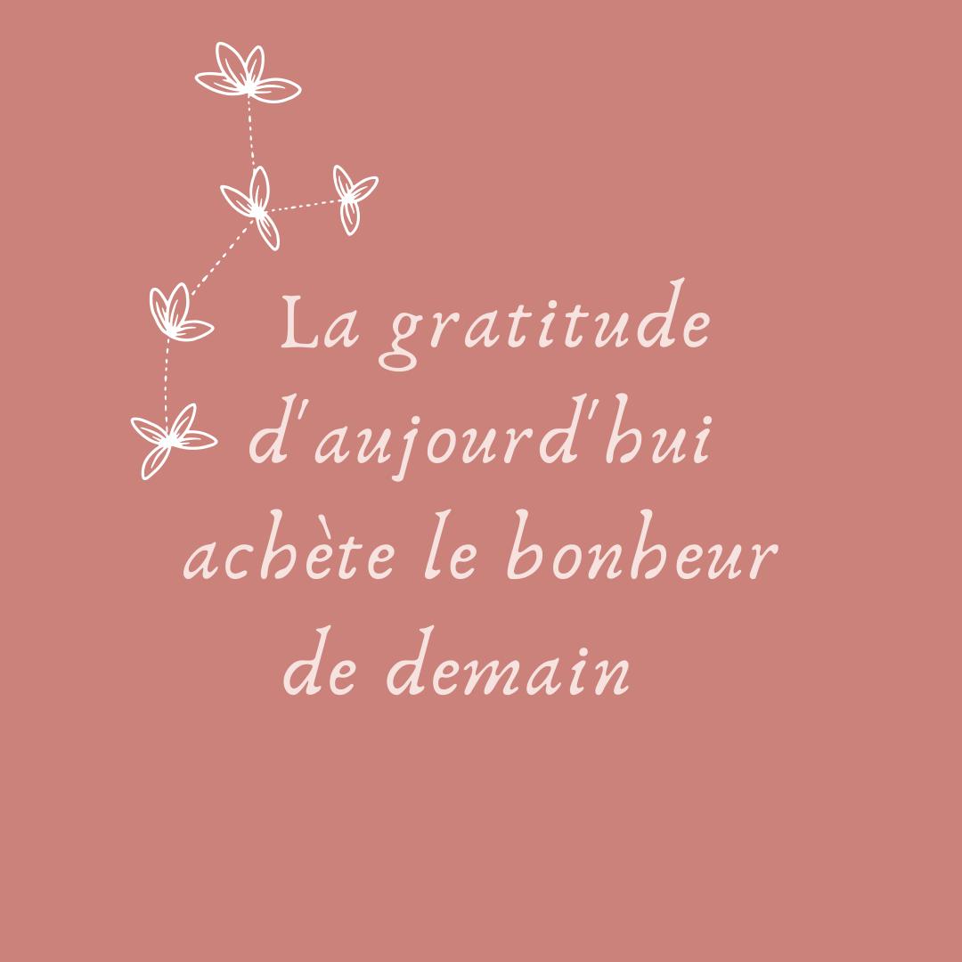 #267 La gratitude d'aujourd'hui achète le bonheur de demain
