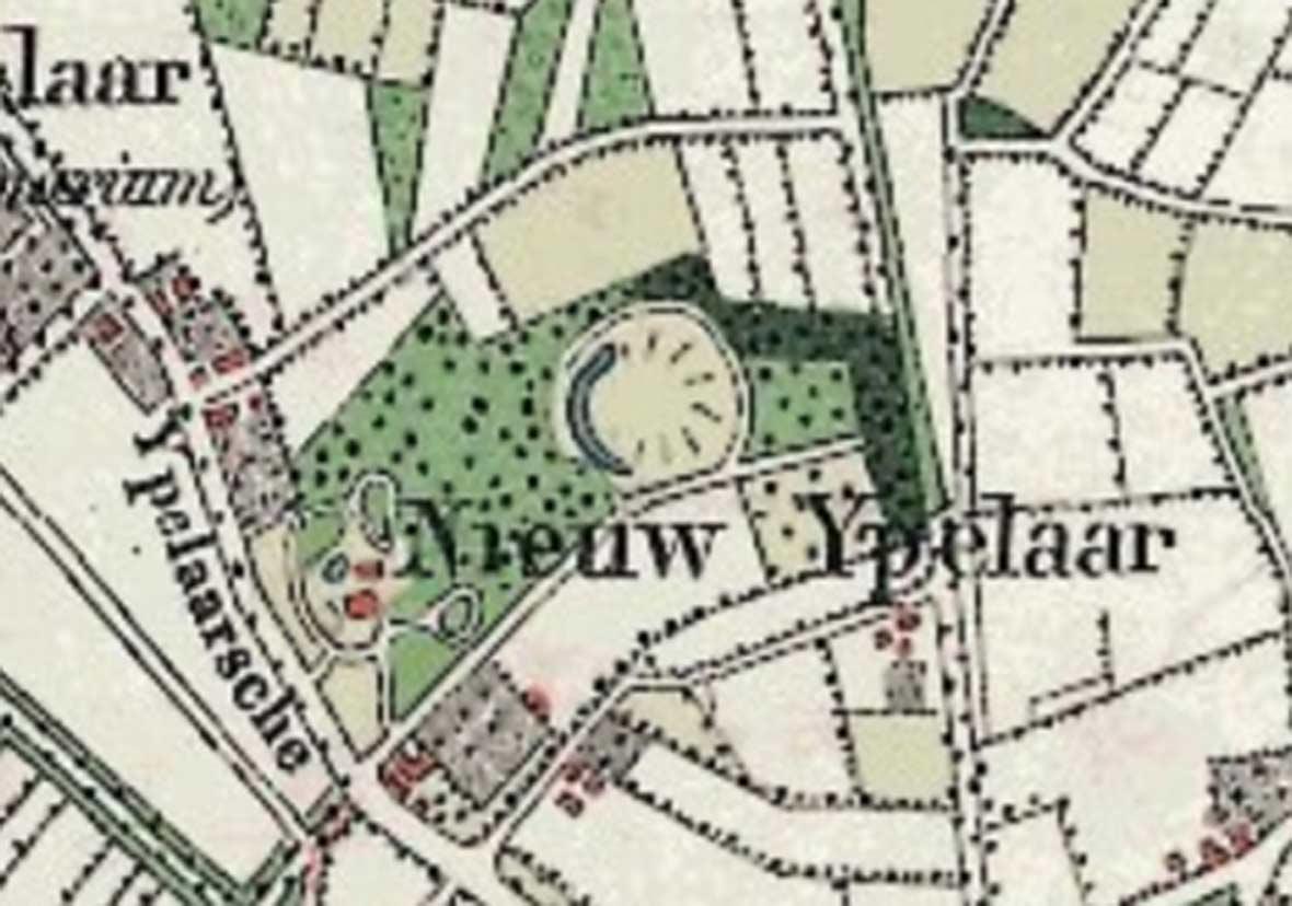 Topografische kaart (Bonnekaart) uit 1890, met daarop het landgoed.