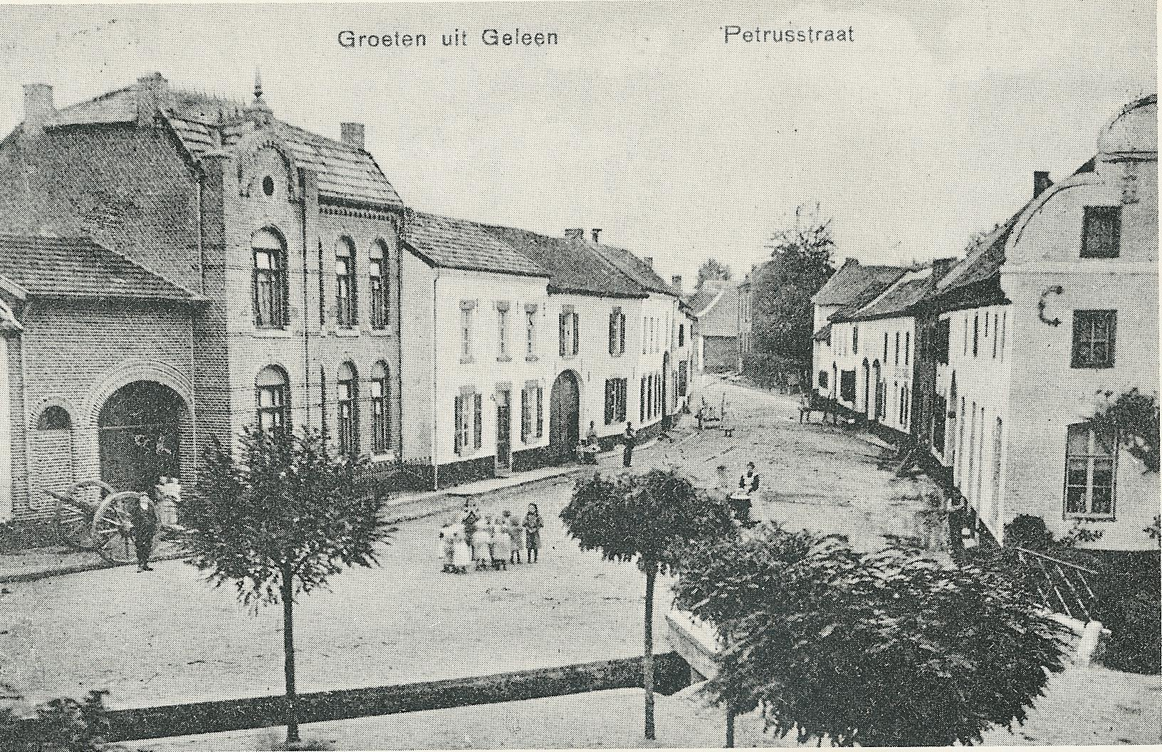 Blik in de Pieterstraat, foto rond 1910.