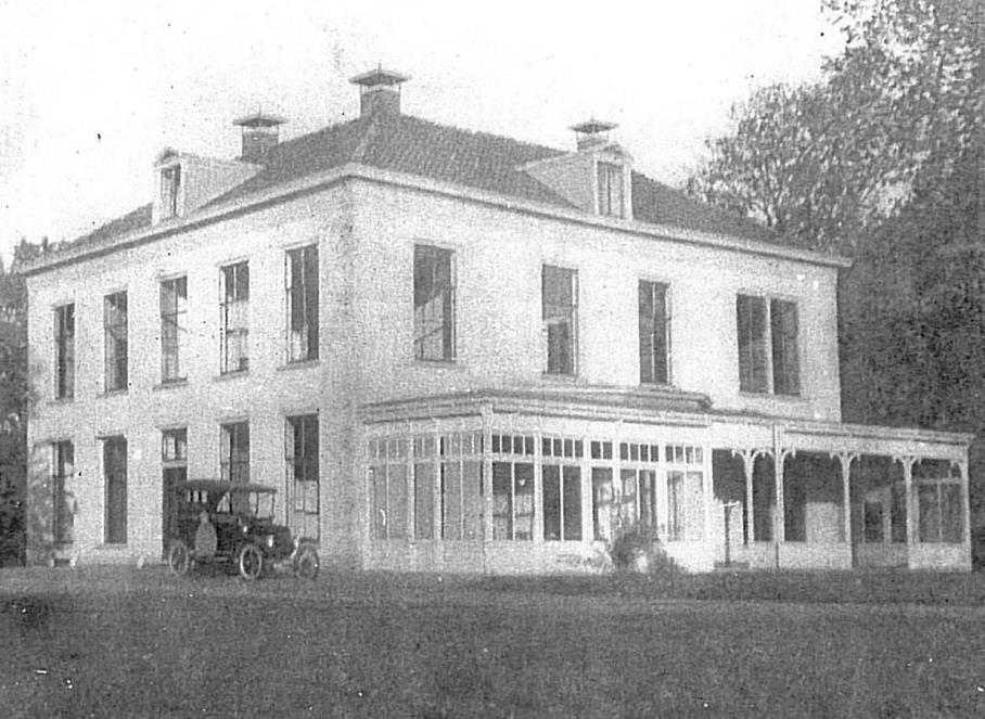 Foto vuit circa 1920 van het oude landhuis Bruggenbosch