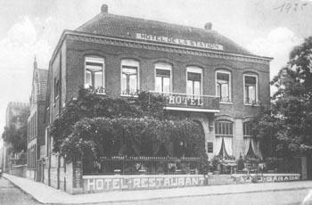 Hotel de la Station, de vroegere naam van het hotel, circa 1900.