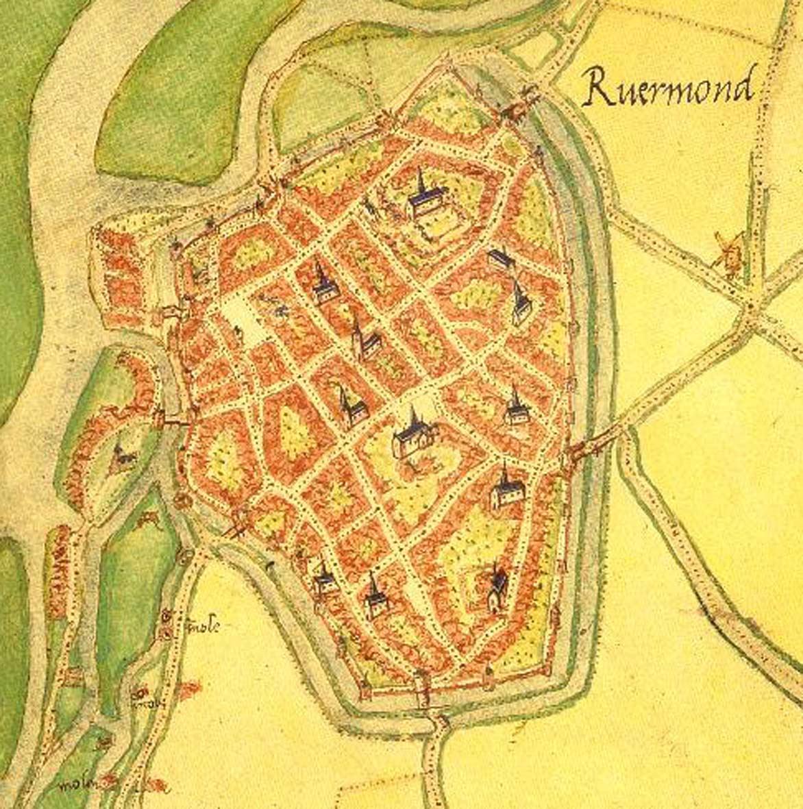 STadsplattegrond van Roermond, Jacob van Deventer 155