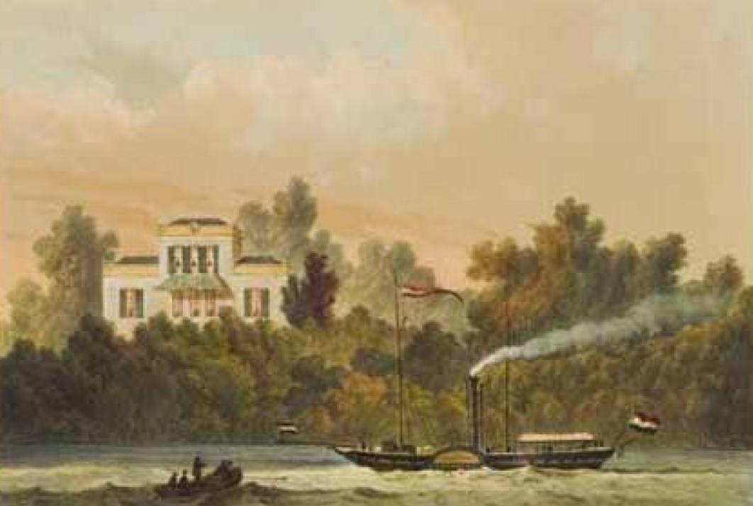 Schoonheuvel op een litho uit 1850