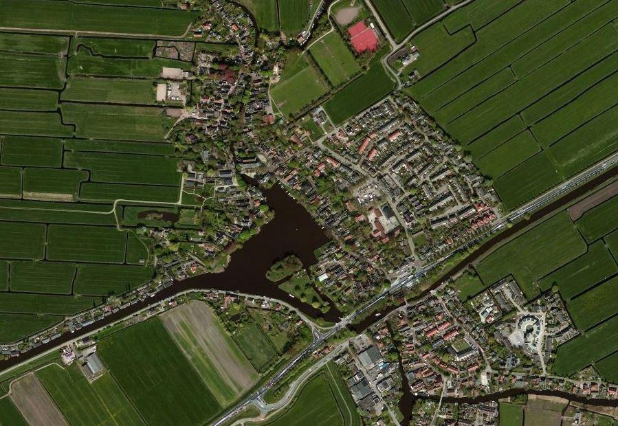 Luchtfoto van Broek in Waterland