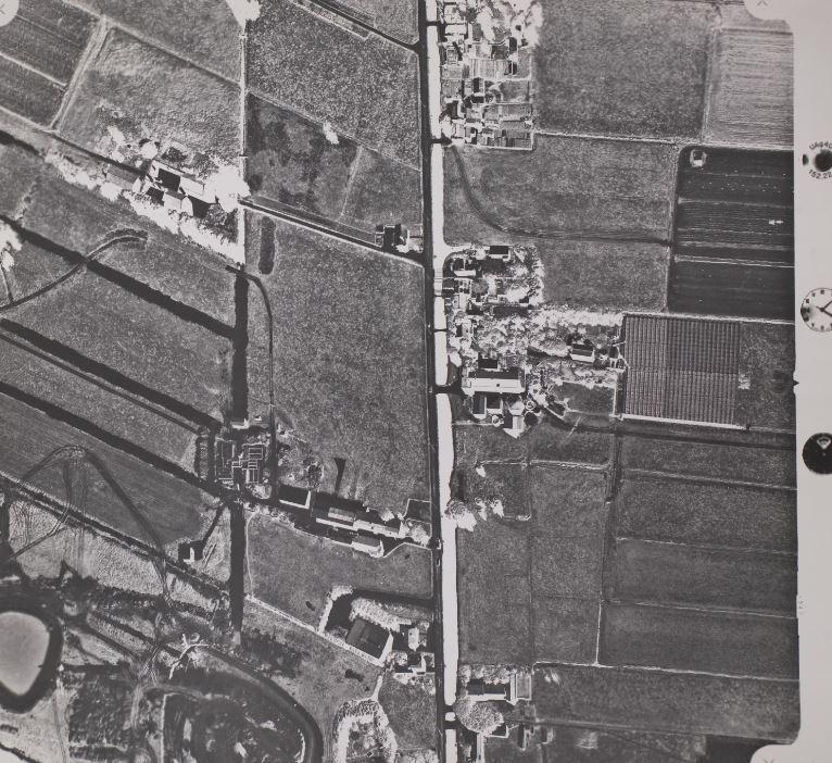 Luchtfoto uit 1974, situatie vóór de snelle groei van Zoetermeer