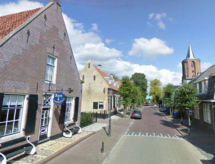 Bunschoten, straatbeeld Dorpsstraat cultuurhistorie