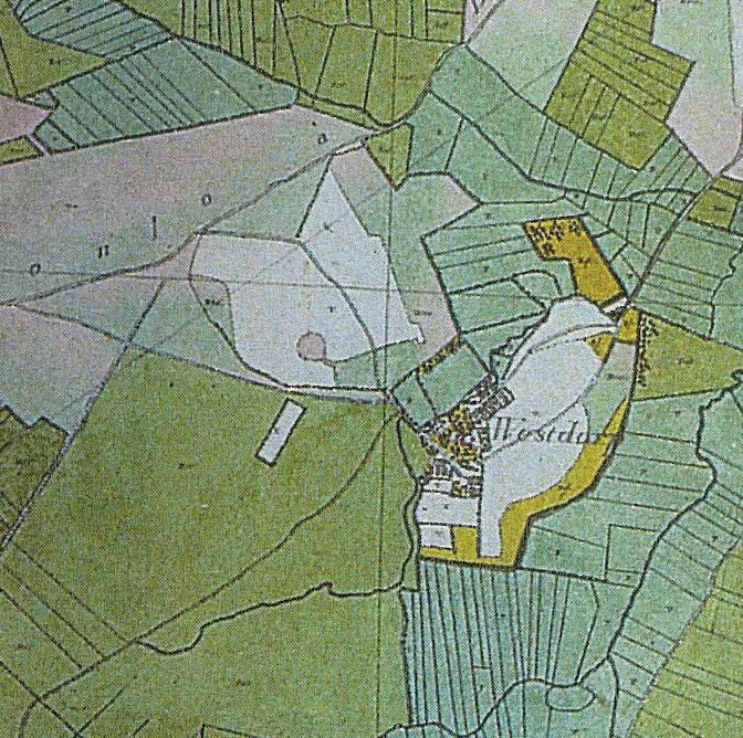 Franse kaart van Westdorp uit 1812.