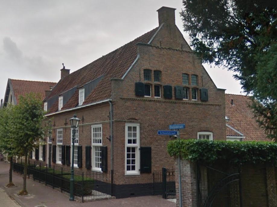 Dorpsstraat Bunschoten, zeventiende eeuwse dwarshuisboerderij