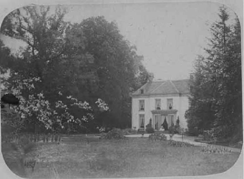 Voorgevel van het landhuis, vóór de verbouwing van 1916.