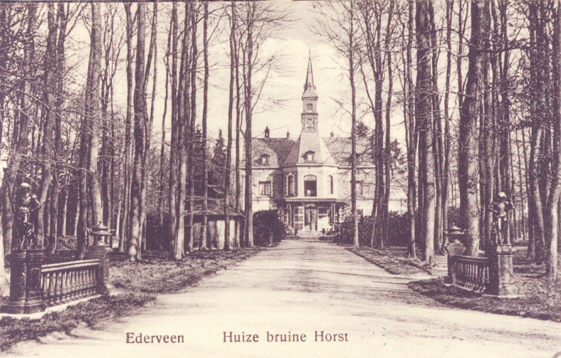 Foto uit 1910. Bruinhorst gezien vanaf de Luntersekade.