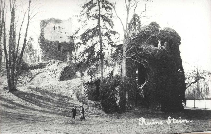 De ruine rond 1910-1920 (bron: archief Stichting Erfgoed Stein).