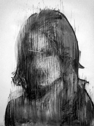 charcoal, chalk on paper 70x50cm