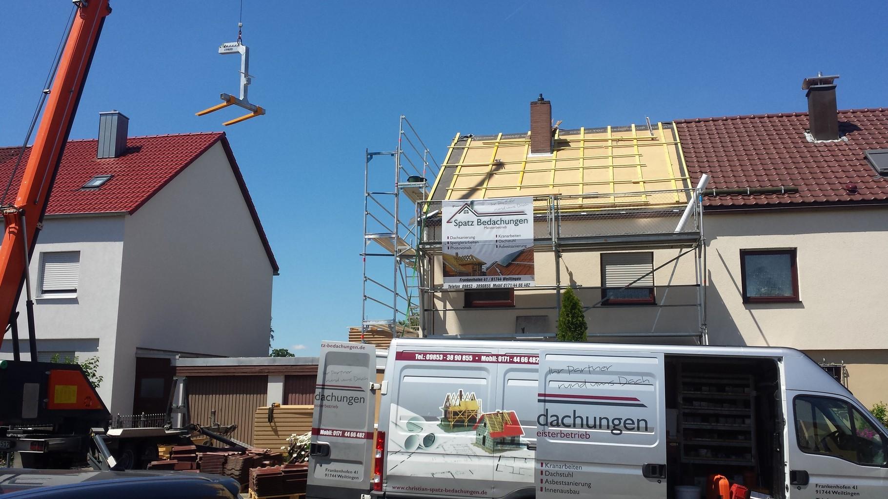 Aufsparrendämmung mit Eindeckung der vorhandenden Dachziegel