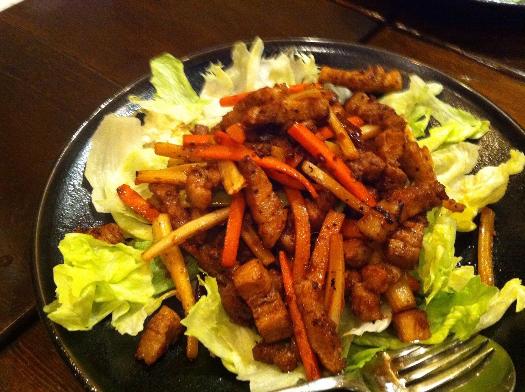 豚肉キンピラ炒め