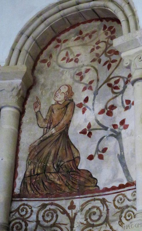 Sainte Barbe en prière