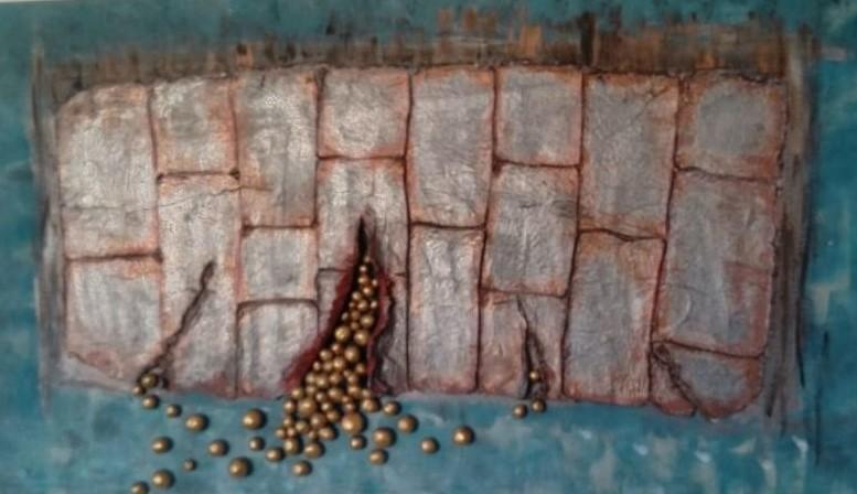 5.12., Plastisches Kunstwerk von Doris Hallerbach, Falkensee, A43