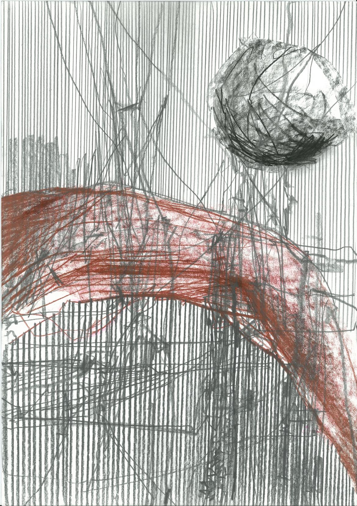 """6.1., """"Flow"""", Zeichnung von Elena Gluth, Berlin-Friedrichshain, A34"""
